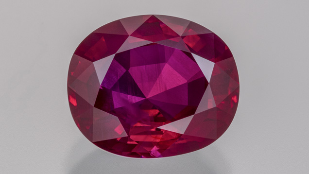 Burmese ruby from Mogok