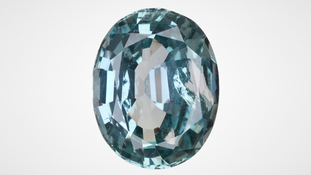 5.74 ct mixed-cut oval sapphire