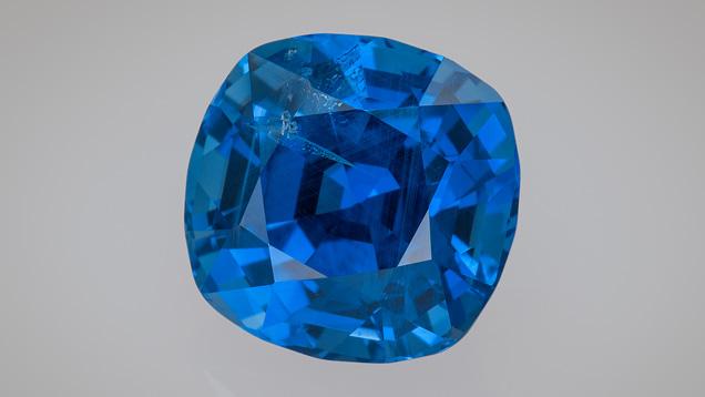 Cushion-cut Burmese sapphire