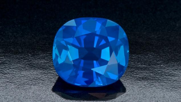 Cushion-cut Kashmir sapphire