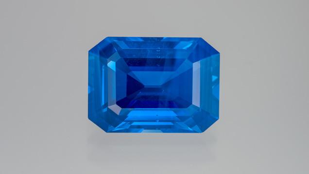 Step-cut Kashmir sapphire
