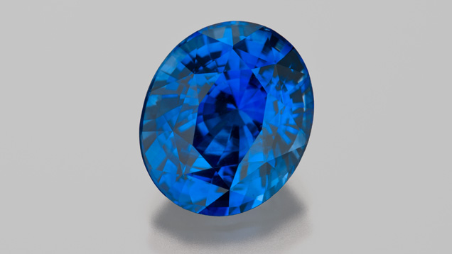 7.04 ct blue sapphire