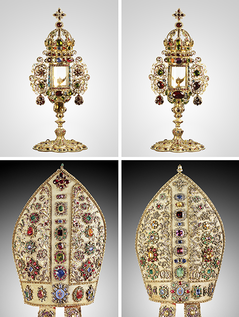 Monstrance and miter from the Archbishops and Prince-Electors of Trier
