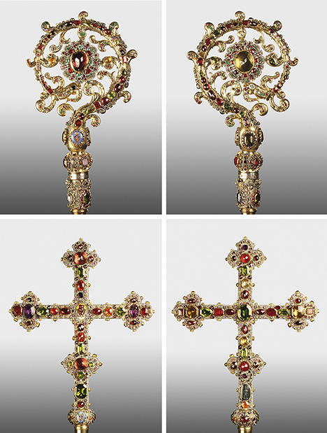 Crosier and processional cross from the Archbishops and Prince-Electors of Trier