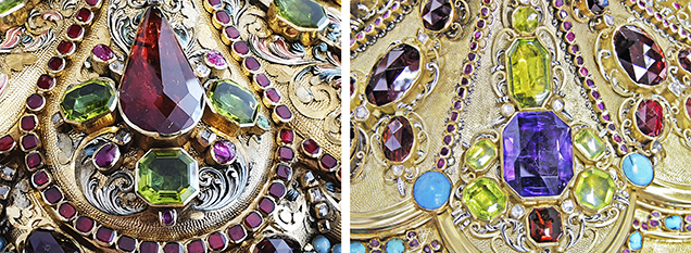 Gemstones from the Limburg monstrance and the Cologne monstrance