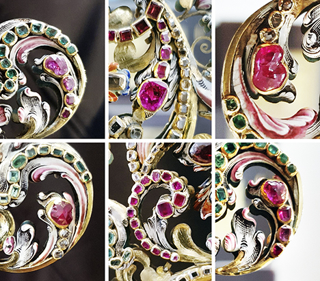 Rose-cut rubies from the seventeenth century