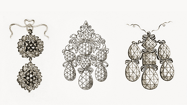 Rose-cut diamonds in seventeenth-century jewelry
