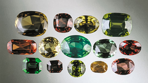 Natural zircon colours