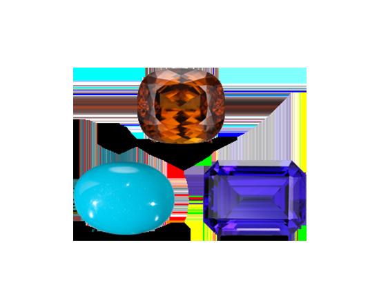 December birth stones, tanzanite, zircon, turquoise jewelry
