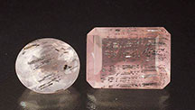 Bismuthinite Inclusions in Rose Quartz