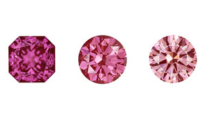 "These 0.28–0.67 ct CVD-grown diamonds displayed intense pink colourations, and were colour-graded as Fancy Intense to Fancy Vivid pink or purplish pink. The samples were produced using ""standard production techniques"" at Apollo for this type of stone."