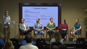 Video presentation of Creative Careers panel.