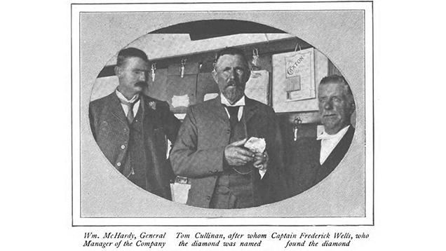 1905年にCullinan diamond(カリナン ダイヤモンド)の発見に関与した人物。American Magazine(アメリカン マガジン、Vol.63、No.4、424-429ページ、1907年)より掲載。