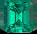祖母绿略带蓝的绿色宝石