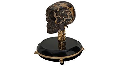 Penut skull carving