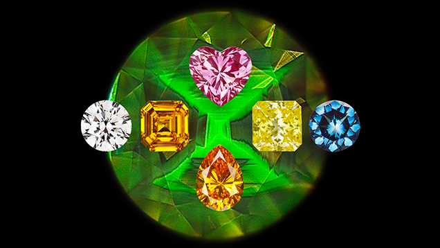 Major colors of HPHT synthetic diamonds