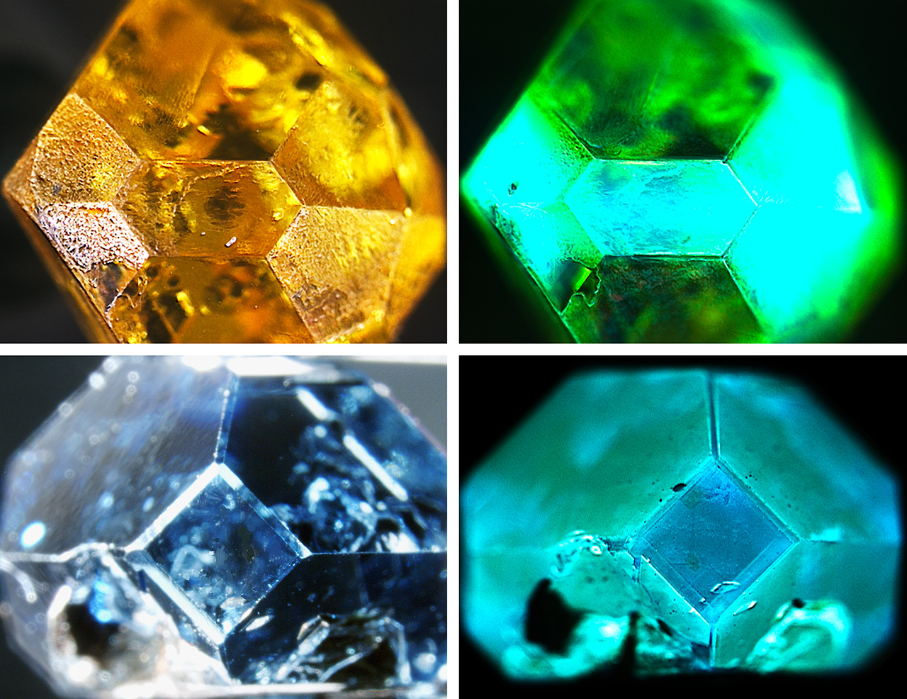 DiamondView fluorescence reactions of HPHT synthetics