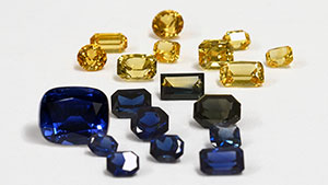 Sapphires from Antang and Gombe, Nigeria.
