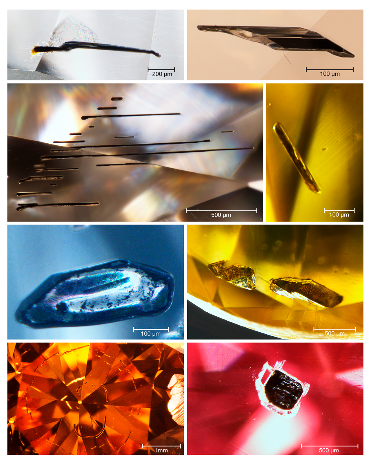 Metallic inclusions in HPHT synthetics