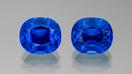 Two blue sapphires side by side