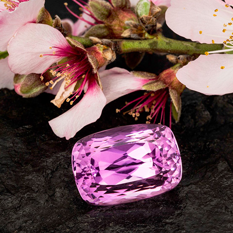 Pink-lavender kunzite from Pala, California