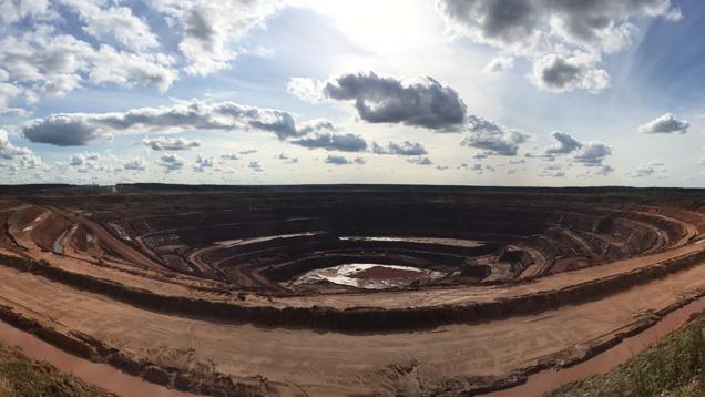 ロモノソフ鉱床の航空写真
