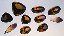 Faceted Synthetic Ametrines