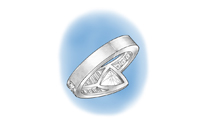 Sizing down a platinum ruthenium ring using a torch