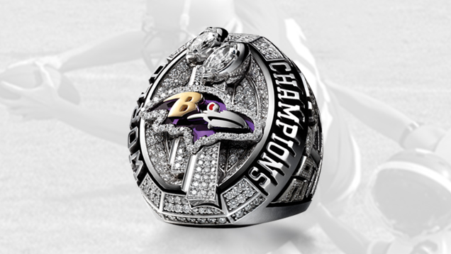 Baltimore Ravens Super Bowl XLVII Ring