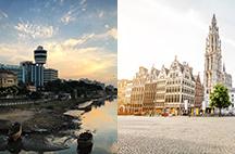 Surat and Antwerp