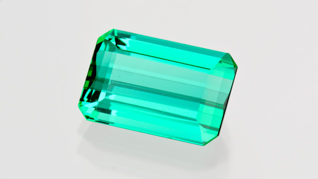 5.43-carat Emerald-cut Tourmaline