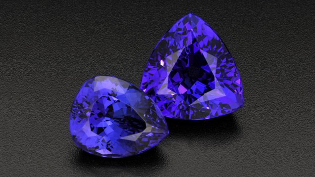 Intense Violetish Blue Tanzanite