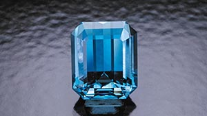 12.50-ct Emerald-cut Aquamarine