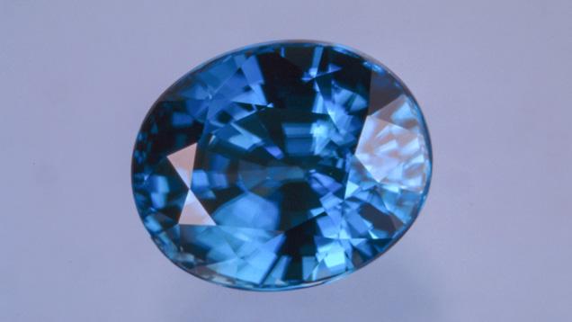 Intense Blue Zircon