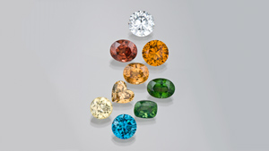 Wide variety of zircon colours