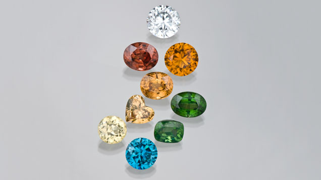 Zircon comes in a wide variety of colors