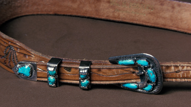 Turquoise in Silver Buckle