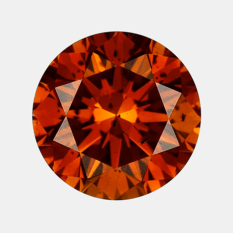 irradiated 1.06 ct Fancy Deep brownish orange HPHT-grown synthetic diamond