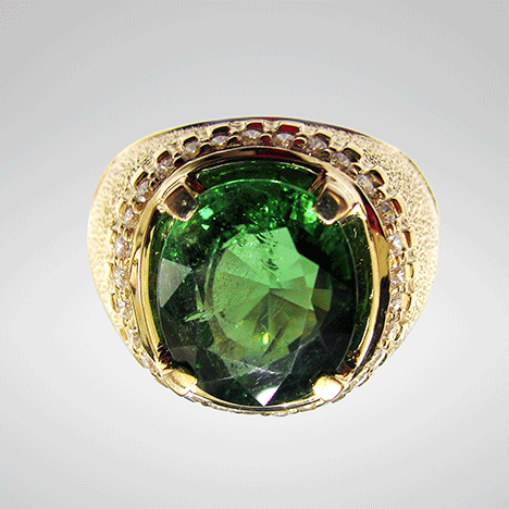 7.1 ct green uvite tourmaline