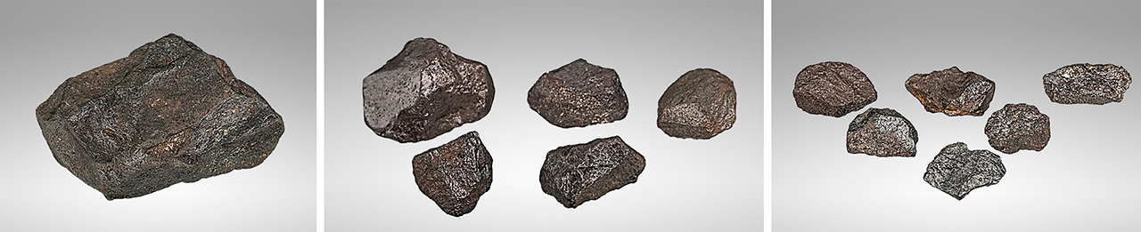 Carbonado samples from Central African Republic and Brazil