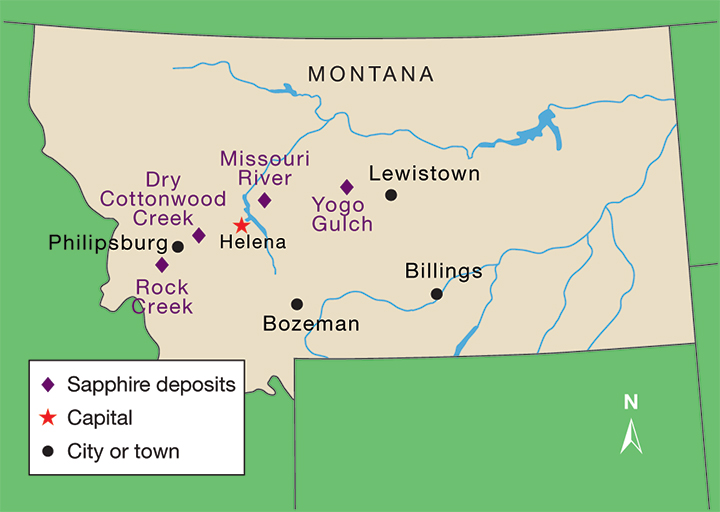 Map of Montana mining operations