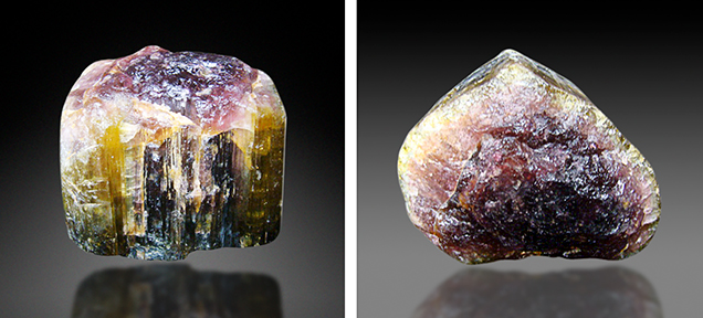 Unusually large tourmaline crystal from Luc Yen