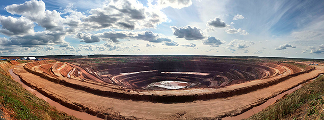 Open Pit of the Arkhangelskaya Kimberlite.