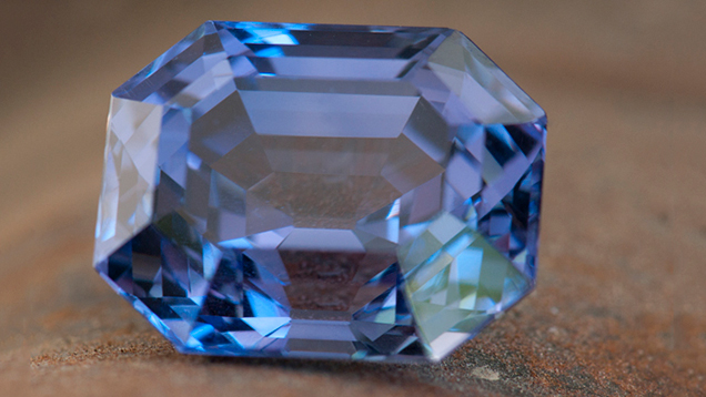 Unheated color-change sapphire from Sri Lanka.