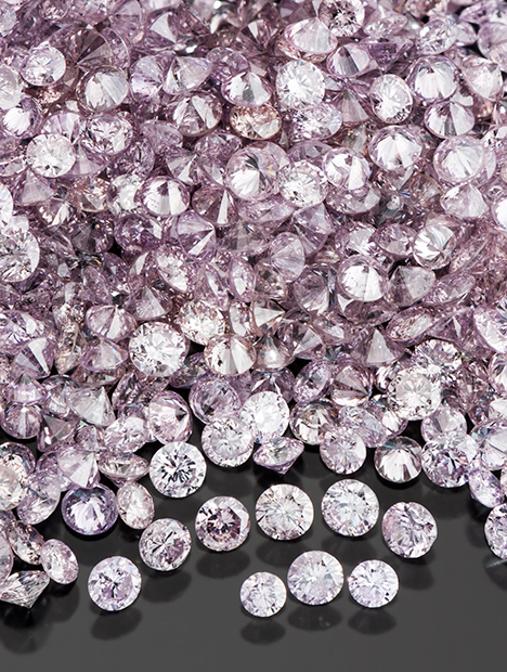 Pink Lomonosov diamonds.