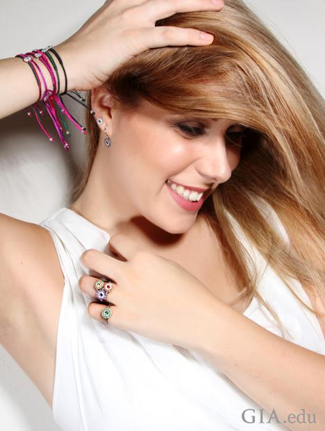 Giuliana Loglisci wears her rings and bracelets.