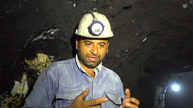 Interview at the Los Españoles emerald mine
