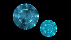 DiamondView images show the fluorescence in two unusual diamonds.