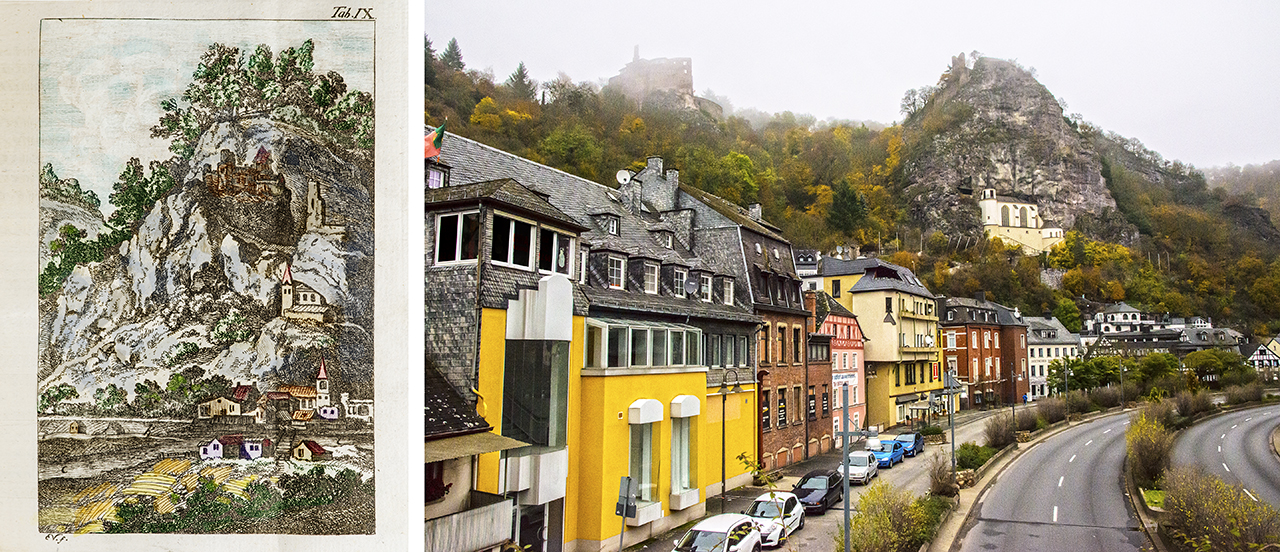 Oberstein in the late 1700s and today