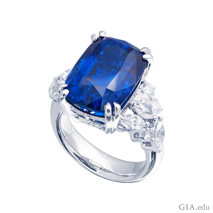 It's easy to love the rich blue of the September birthstone, sapphire. Courtesy: JYE's International